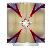 A Rose Thorns And All Mandala Yantra Shower Curtain
