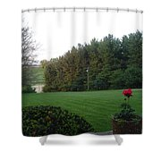 A Rose With A View Shower Curtain