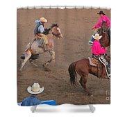 A Rough Ride Shower Curtain