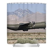 A Royal Air Force C130k Hercules Shower Curtain