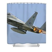 A Royal Saudi Air Force F-15c Shower Curtain