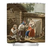 A Russian Peasant Family, 1823 Shower Curtain