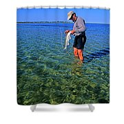 A Salt Water Fly Fisherman Catches Shower Curtain