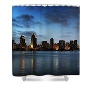 A San Diego Evening Shower Curtain