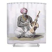 A Sarinda, Or Hindostan Type Violin Shower Curtain