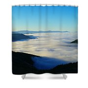 A Sea Of Fog  Shower Curtain