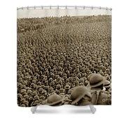 A Sea Of Helmets World War One 1918 Shower Curtain