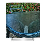 A Sea Of Zinnias 03 Shower Curtain