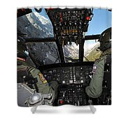A Seaking Mk 4 Helicopter  Shower Curtain