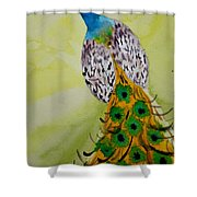 A Searching Look Shower Curtain