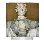 A Seated Abe Lincoln Shower Curtain