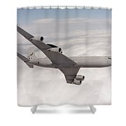 A Sentry Aew1 Of No 8 Squadron Shower Curtain