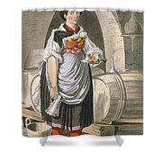 A Serving Girl At An Inn Shower Curtain