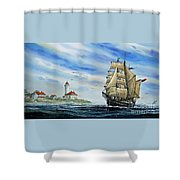 A Ship There Is Shower Curtain