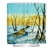 A Sign Of Winter Shower Curtain