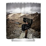 A Signed Trail Junction On The Way Shower Curtain