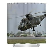 A Sikorsky S-61a4 Helicopter Shower Curtain