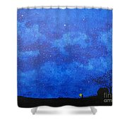 A Single Candle Shower Curtain