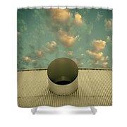 A Single Window Vintage North Shore Club Salton Sea Shower Curtain