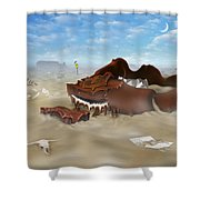 A Slow Death In Piano Valley Shower Curtain