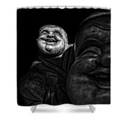A Smile On The Shoulder - Bw Shower Curtain