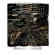 A Snake Pit Of Wires Shower Curtain