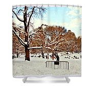 A Snow Day In Central Park Shower Curtain