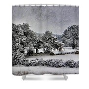 A Snowy Day Shower Curtain