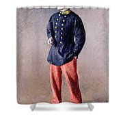 A Soldier Shower Curtain