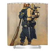 A Soldier IInfanterie Shower Curtain