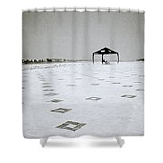 A Solitary Life Shower Curtain