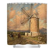 A Spanish Mill Shower Curtain