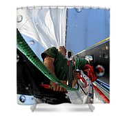A Spanish Racing Yacht Trains Shower Curtain