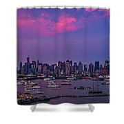 A Spectacular New York City Evening Shower Curtain