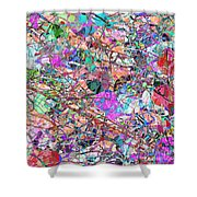 A Splash Of Abstract Shower Curtain