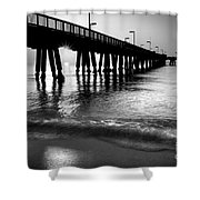 Sun Under Pompano Pier Shower Curtain