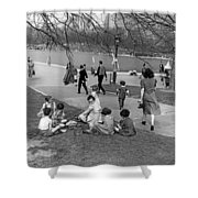 A Spring Day In Central Park Shower Curtain