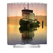 A Spring Evening At The Lake Shower Curtain