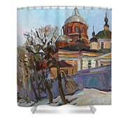 A Spring Message Shower Curtain