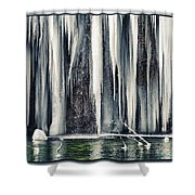 A Spring That Knows No Summer. Shower Curtain