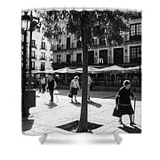 A Square In Toledo - Spain Shower Curtain
