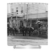 A Stagecoach In Tombstone Shower Curtain