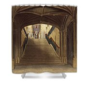 A Staircase, Windsor Castle, From Royal Shower Curtain
