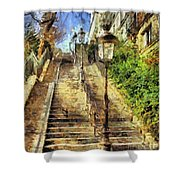 A Stairway In Montmartre Shower Curtain