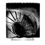 A Stairwell In The Catacombs Of Paris France Shower Curtain
