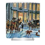 A Stately Christmas Shower Curtain