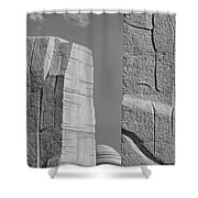 A Stone Of Hope Bw Shower Curtain by Susan Candelario