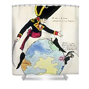 A Stoppage To A Stride Over The Globe, 1803 Litho Shower Curtain
