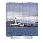 A Storm And The Lighthouse Shower Curtain