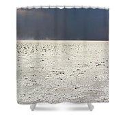 A Storm Approaching The Salt Pan Shower Curtain